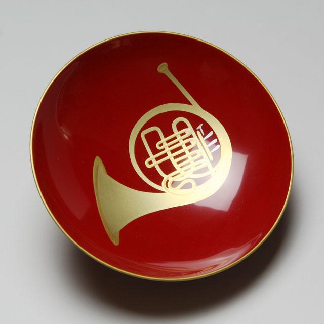 会津塗 木製漆器朱盃 3.3寸 ホル...