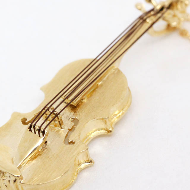 K18 ゴールド ペンダント ヴァイオリン Violin 音楽雑貨 音楽ギフト