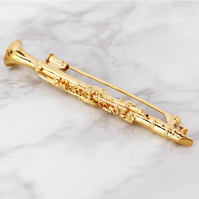 クラリネット Clarinet シルバー ブローチ SV925 音楽雑貨 音楽アクセサリー