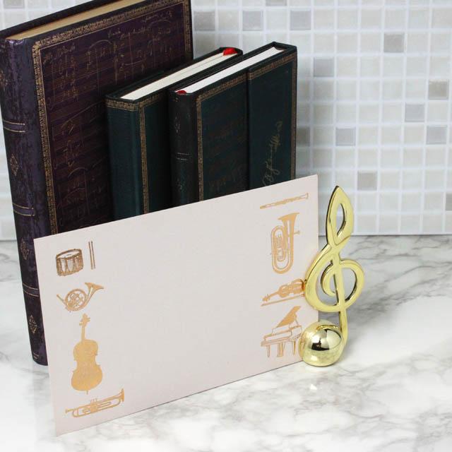 ト音記号 文具 カードスタンド 音楽雑貨 音楽ギフト 音楽グッズ