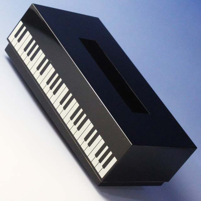 ティッシュボックスケース ピアノ鍵盤 音楽雑貨 音楽グッズ
