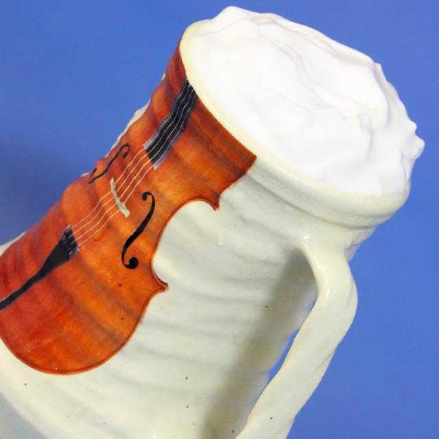 ドイツ式ビアジョッキ チェロ 音楽雑貨 音楽グッズ 音楽ギフト