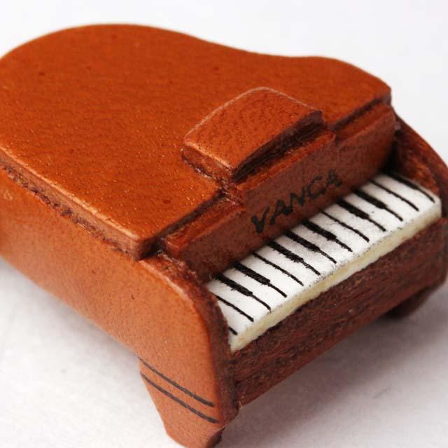本革製 ブックマーク グランドピアノ 音楽グッズ 音楽雑貨