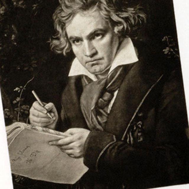 ルートヴィヒ・ヴァン・ベートーヴェン ドイツ 銅版画 額装 音楽ギフト