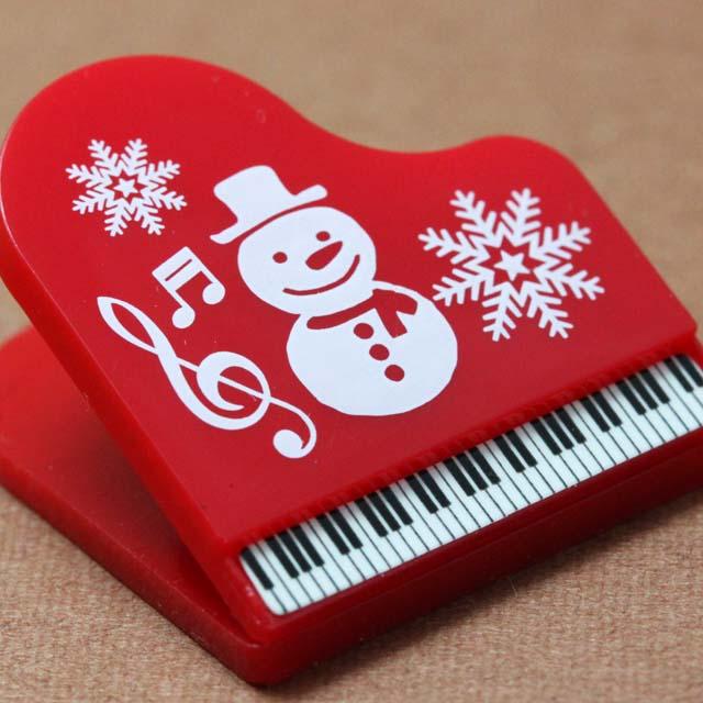 グランドピアノ クリップ クリスマス 音楽雑貨 音楽グッズ