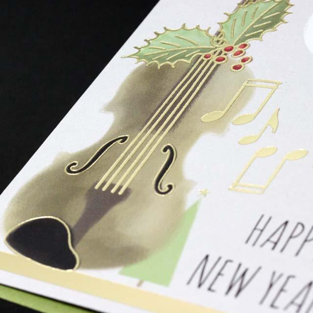 クリスマスカード ヴァイオリン 音楽雑貨 音楽グッズ