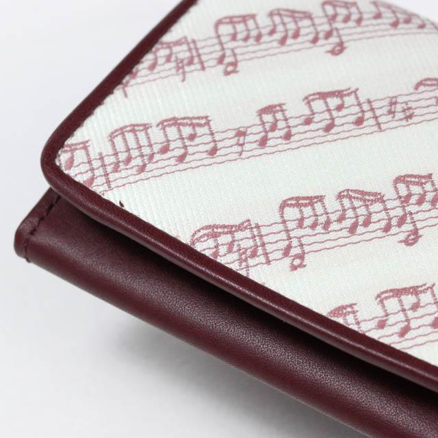 Leather Jacquard 名刺入れ 楽譜 音楽雑貨 音楽ギフト