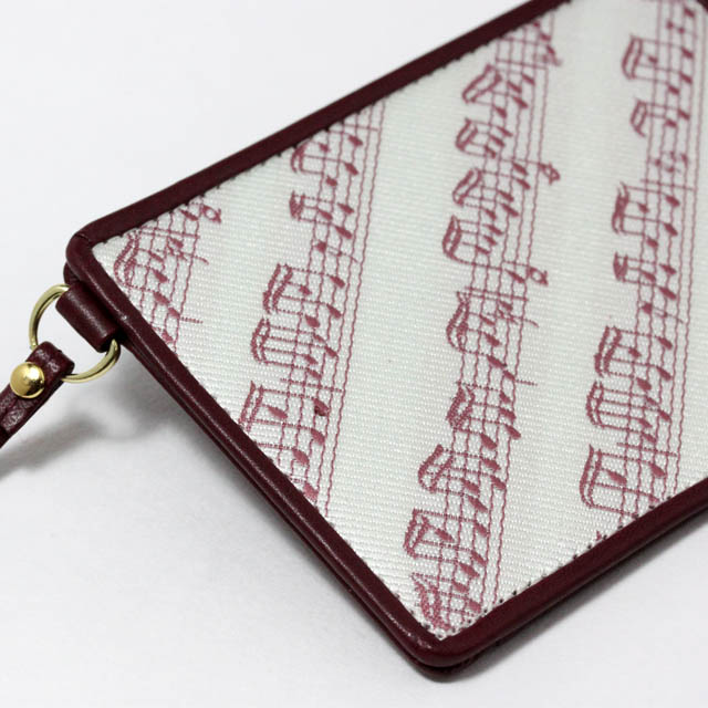 Leather Jacquard パスケース 楽譜 音楽雑貨 音楽ギフト