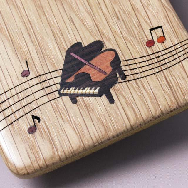 寄木象嵌 パスケース ICカード 音楽雑貨 グランドピアノ