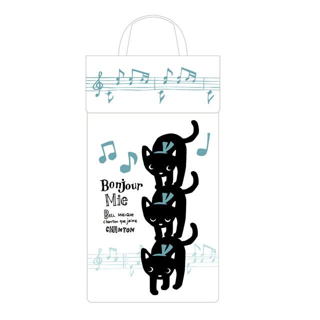 音楽雑貨 レジ袋 ストッカー 帆布 音符