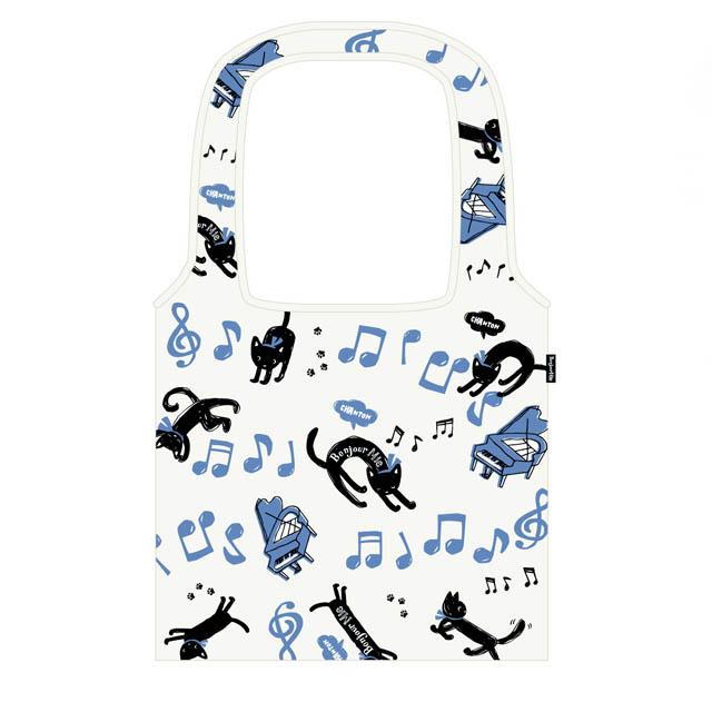 音楽雑貨 エコバッグ 帆布 音符