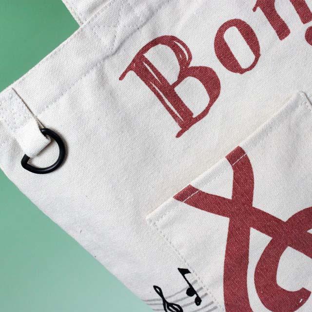 Bonjour Mie ポケット付きトート 音楽雑貨 音符