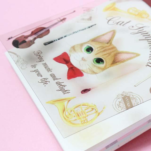 Cat Symphonica 楽器 メモパッド 音楽雑貨