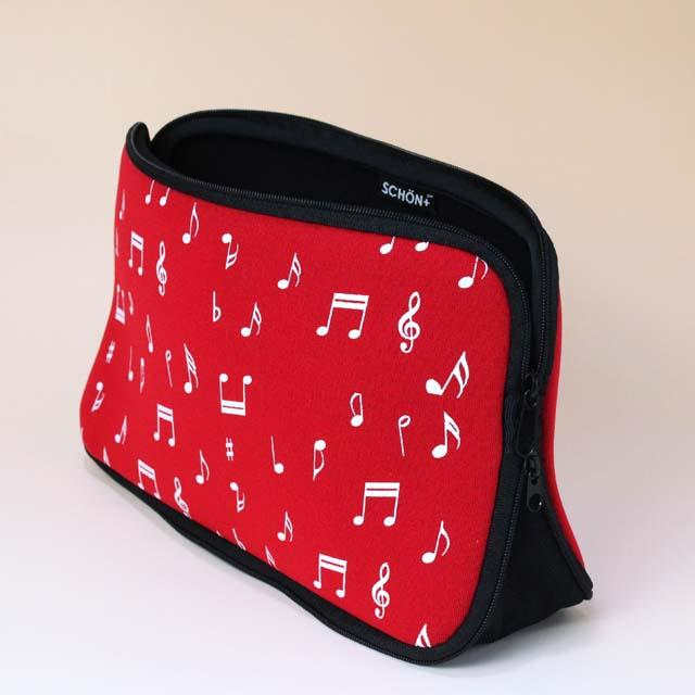 ウェットスーツ素材 トラベルポーチ 音符 音楽雑貨