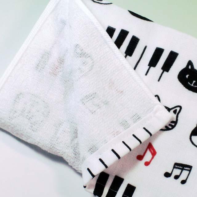 フェイスタオル てぬぐい 鍵盤 音楽雑貨 音楽グッズ