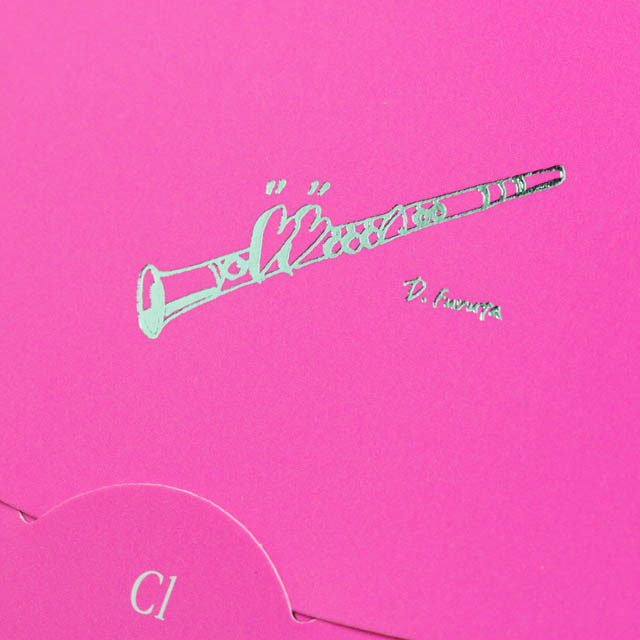 楽譜あぶらとり紙 クリーニングペーパー クラリネット 音楽雑貨