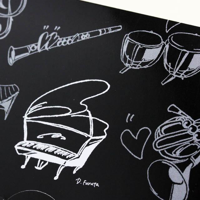楽譜あぶらとり紙 クリーニングペーパー グランドピアノ 音楽雑貨