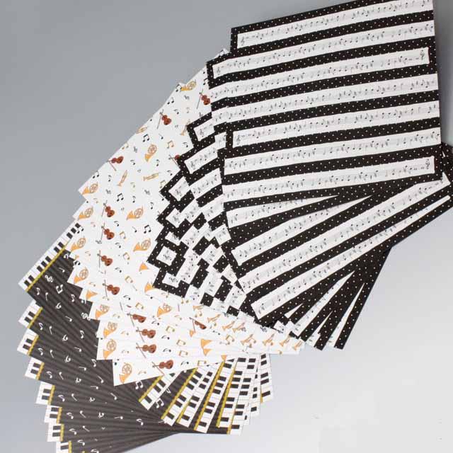 折り紙 リバーシブル 音符 ホルン トランペット 弦楽器