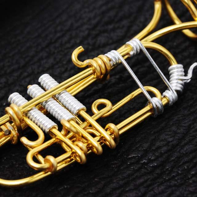 wire art ワイヤーアート トランペット Trumpet 音楽雑貨 音楽グッズ