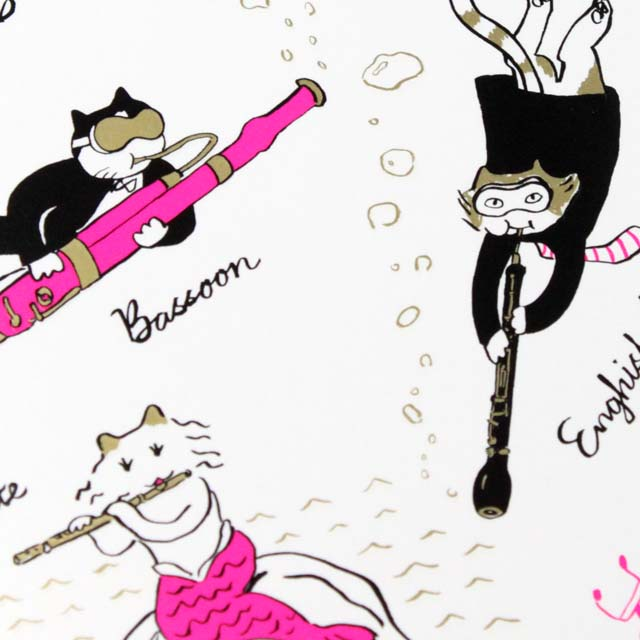 Classic Cat 絵葉書 ポストカード 夏の海 木管楽器 音楽雑貨 音楽グッズ