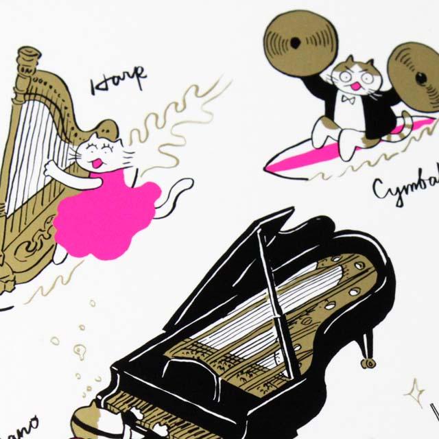 Classic Cat 絵葉書 ポストカード 夏の海 その他の楽器 音楽雑貨 音楽グッズ