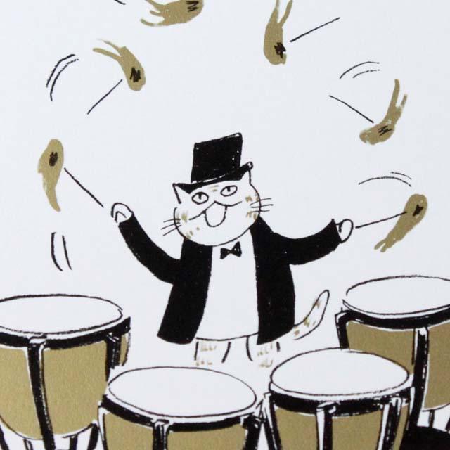 Musical Circus 絵葉書 ポストカード 炎のマレット 音楽雑貨 音楽グッズ