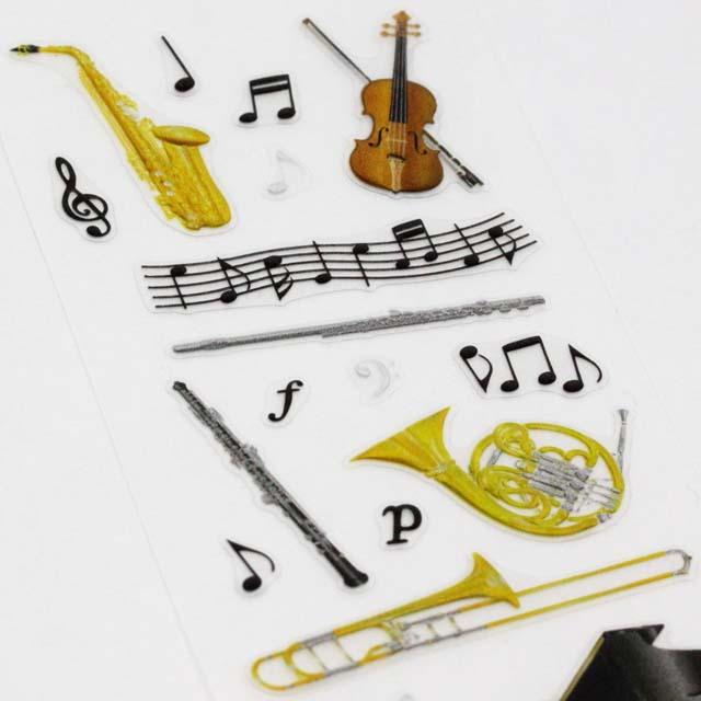 ビジュ・ステッカー 楽器と音符 音楽雑貨