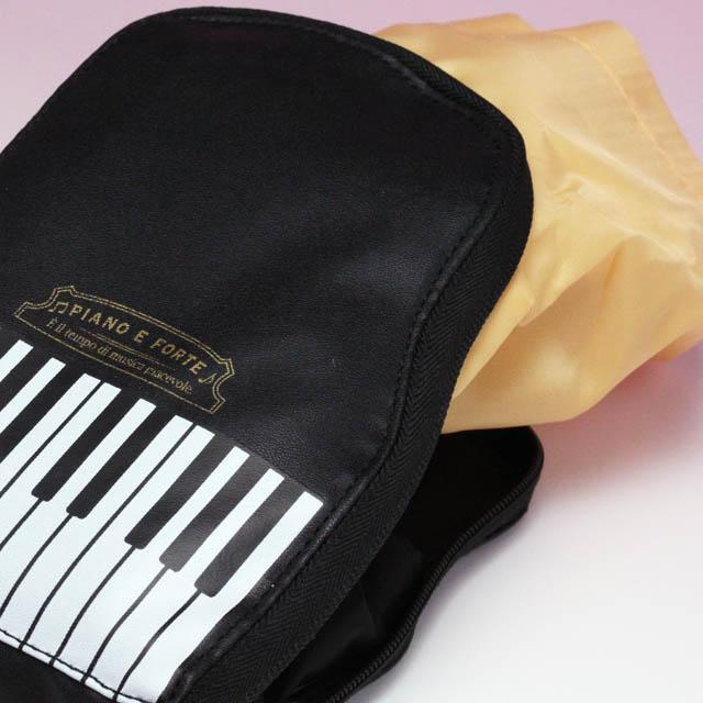 グランドピアノ くるりんぱ エコバッグ 音楽雑貨