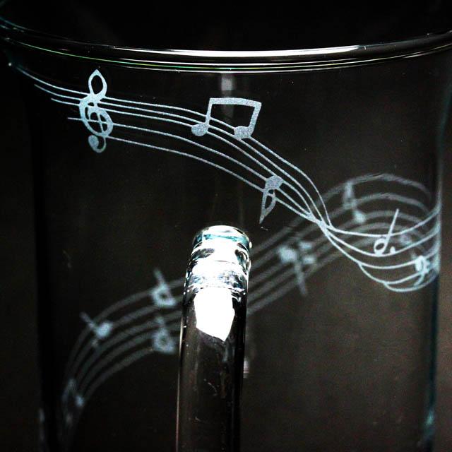 耐熱ガラス マグカップ グランドピアノ 音楽雑貨 音楽ギフト