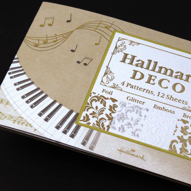 HM DECO ミュージック ト音記号 鍵盤 音楽雑貨 一筆箋
