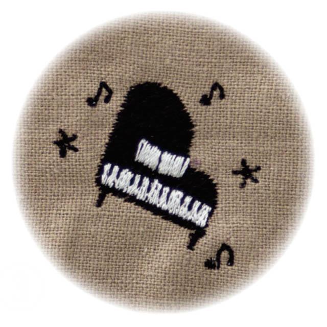 音楽刺繍マスク グランドピアノ 音楽雑貨 音楽グッズ