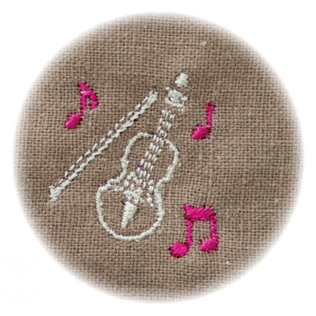 音楽刺繍マスク 弦楽器 ヴァイオリン 音楽雑貨 音楽グッズ