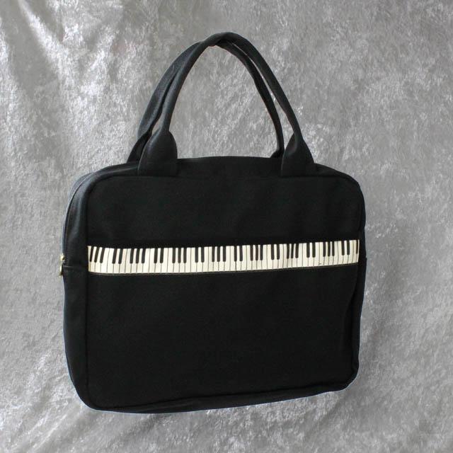 鍵盤織リボン レスナーバッグ ピアノ 音楽雑貨