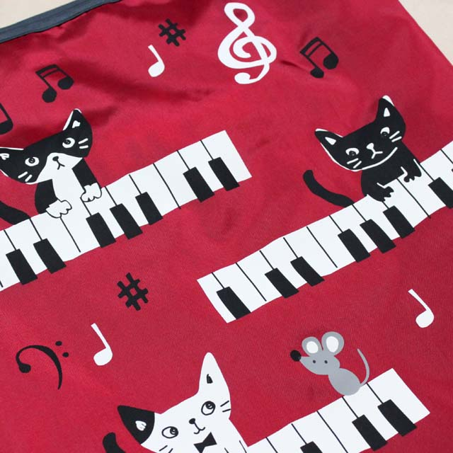 エコバッグ ピアノ鍵盤 音楽雑貨 音楽グッズ