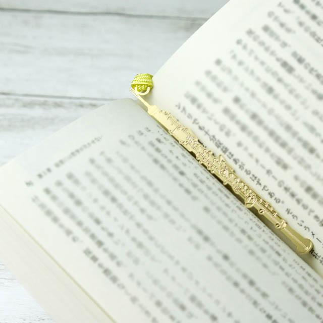 オーボエ Oboe きんのしおり 純金メッキ栞 音楽雑貨 音楽グッズ