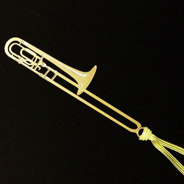 トロンボーン Trombone きんのしおり 純金メッキ栞 音楽雑貨 音楽グッズ