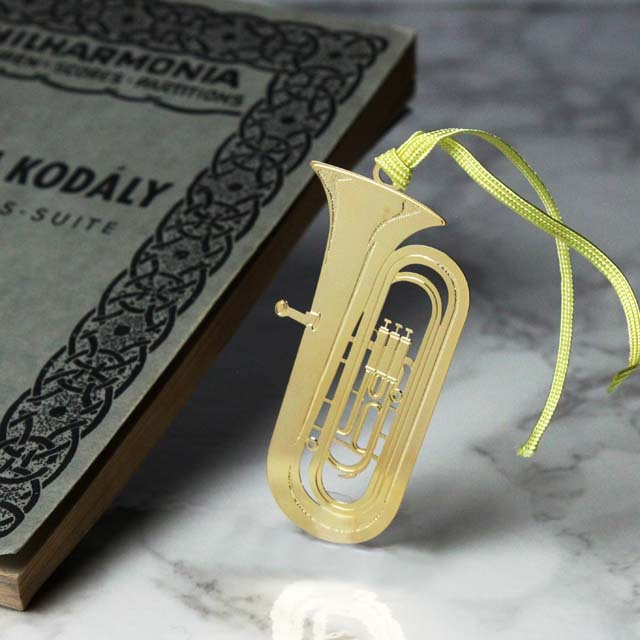 チューバ Tuba きんのしおり 純金メッキ栞 音楽雑貨 音楽グッズ