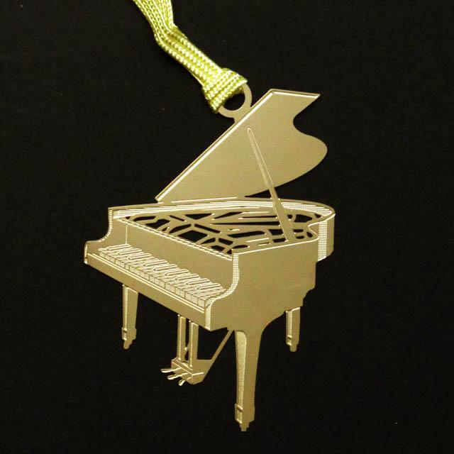 グランドピアノ Piano きんのしおり 純金メッキ栞 音楽雑貨 音楽グッズ
