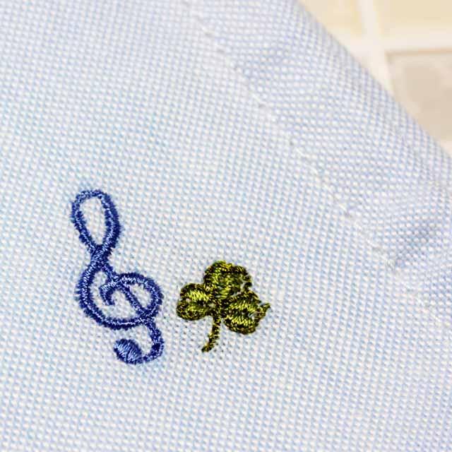 オックスフォード生地 音楽刺繍マスク ト音記号 音楽雑貨 音楽グッズ