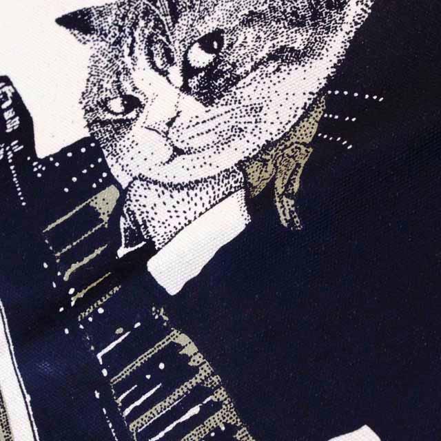 アップライトピアノ 厚手コットンキャンバス トート 音楽雑貨