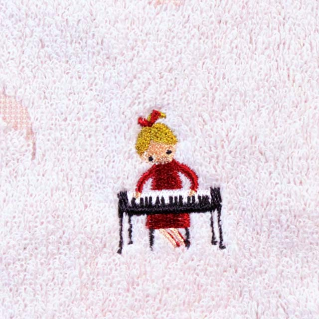 音楽雑貨 タオルハンカチ ShinziKatoh ピアノ 鍵盤