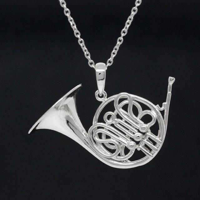 ホルン Horn シルバー ペンダント SV925 音楽雑貨 音楽アクセサリー