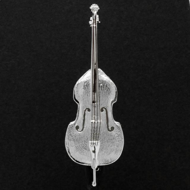 コントラバス Contrabass シルバー ブローチ SV925 音楽雑貨 音楽アクセサリー