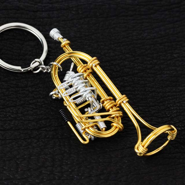 wire art ワイヤーアート ロータリー トランペット Rotary Trumpet 音楽雑貨 音楽グッズ