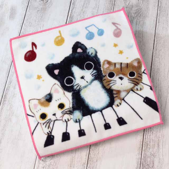 Yamaneko ピアノ鍵盤 タオル 音楽雑貨