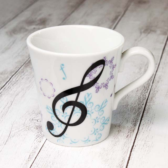 カレイドスコープ ト音記号 マグカップ 音楽雑貨