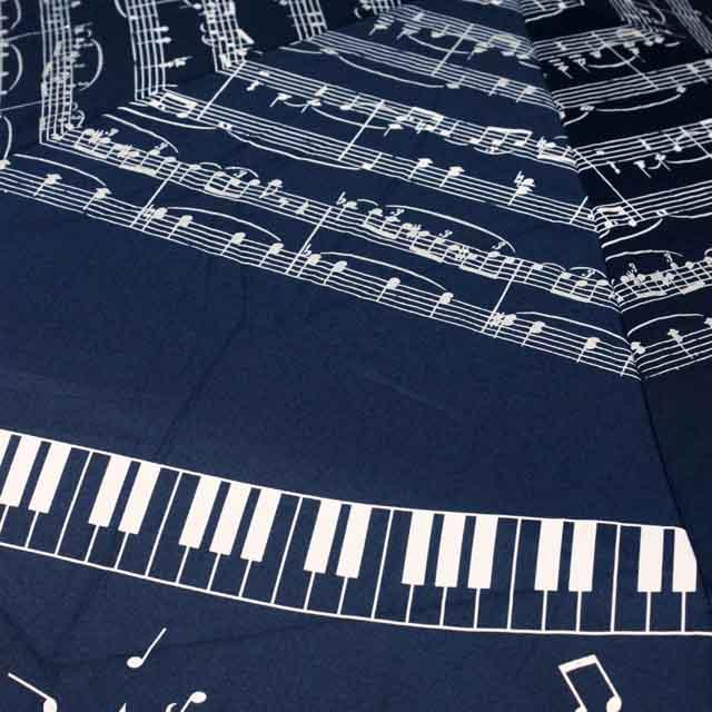 軽量傘 折畳み傘 楽譜 ピアノ鍵盤 音楽雑貨