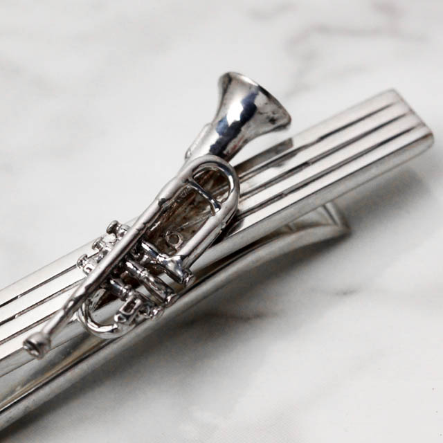 Silver シルバー タイバー タイピン トランペット Trumpet 音楽雑貨