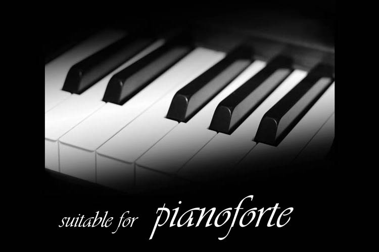 ピアノモチーフの音楽雑貨